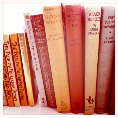 A beautiful selection of vintage books from childhood stories to old classics.