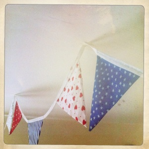 Use bunting to mark out different sections of a room in an open-plan space.