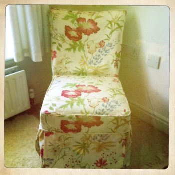 Consider re-covering chairs with pretty fabrics to give them a new lease of life.