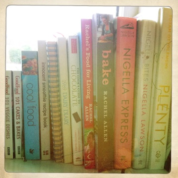 A range of cook books provide lots of inspiration in the kitchen.