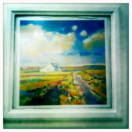 This beautiful watercolour reminds me of the secluded Northumbrian landscape.
