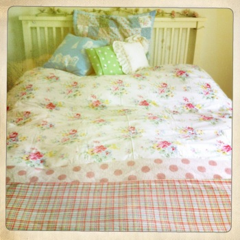 This pretty duvet cover is Cath Kidston's 'Floral Bouquet' print.