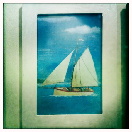 This sailing boat postcard has a real sense of freedom on the open water.