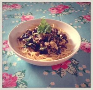 Aubergine Spaghetti