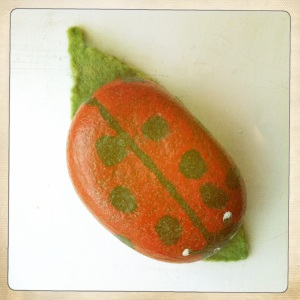 Ladybird Paperweight Birds-eye View