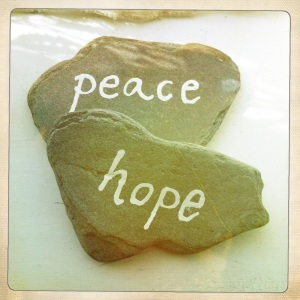 Use Tippex or paint to write significant words or phrases onto heavy stones and create paperweights