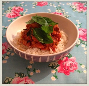 Spinach and Sweet Potato Curry