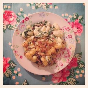 Spinach, Mushroom and Sage Gnocchi
