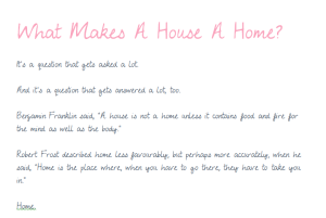 What Makes A House A Home Image 3